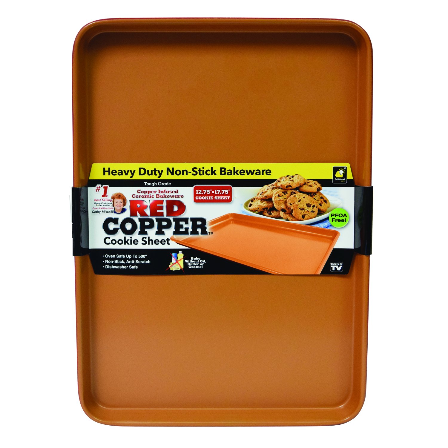 Red Copper Cookie Tray Baking-Sheets by BulbHead 12062