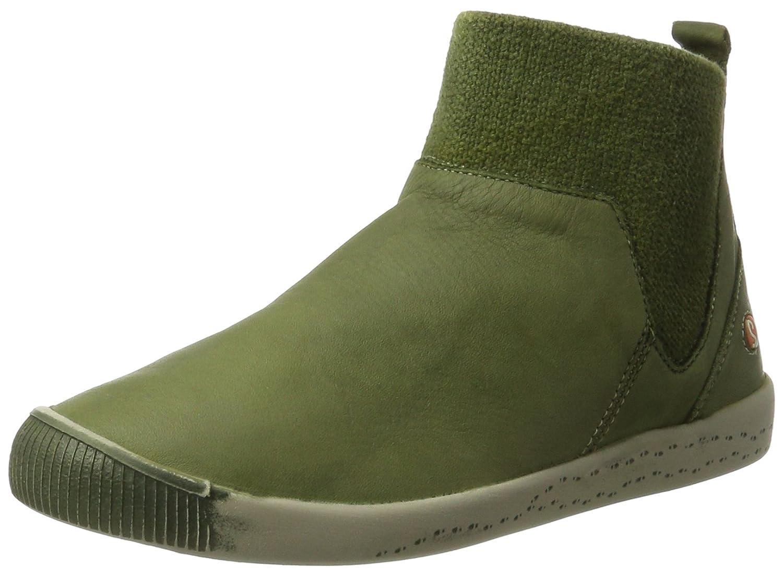 Softinos Imi412sof Washed - Botas Plisadas Mujer42 EU|Verde (Forest Green)