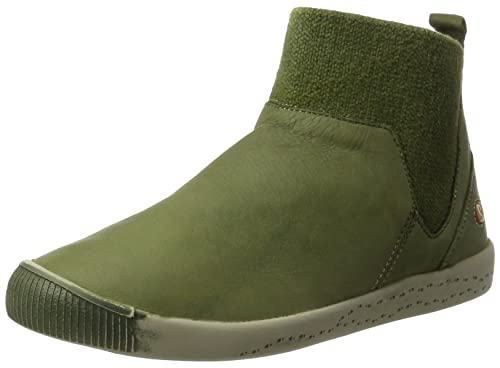 Imi412sof Washed - Botas Plisadas Mujer, Color Verde, Talla 42 EU Softinos