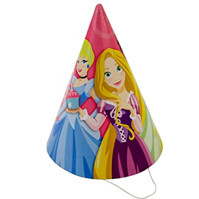 Disney Princess 1st Birthday Cone Hats (8ct): Toys & Games