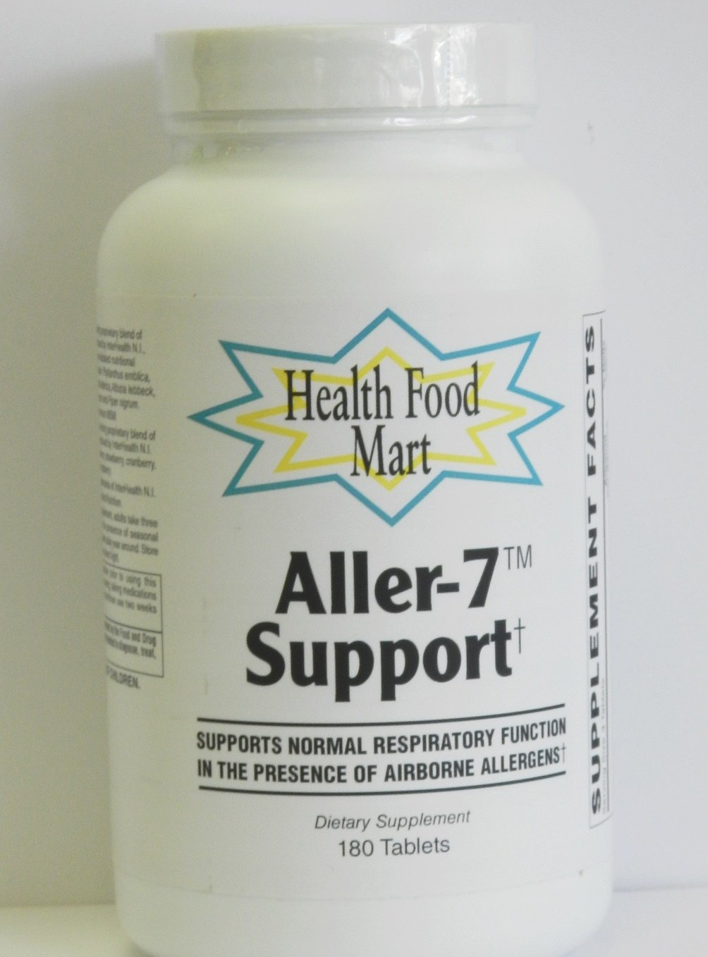 Aller-7 Support 180 Tablets W/Quercetin, Msm, Stinging Nettles & More by Health Food Mart
