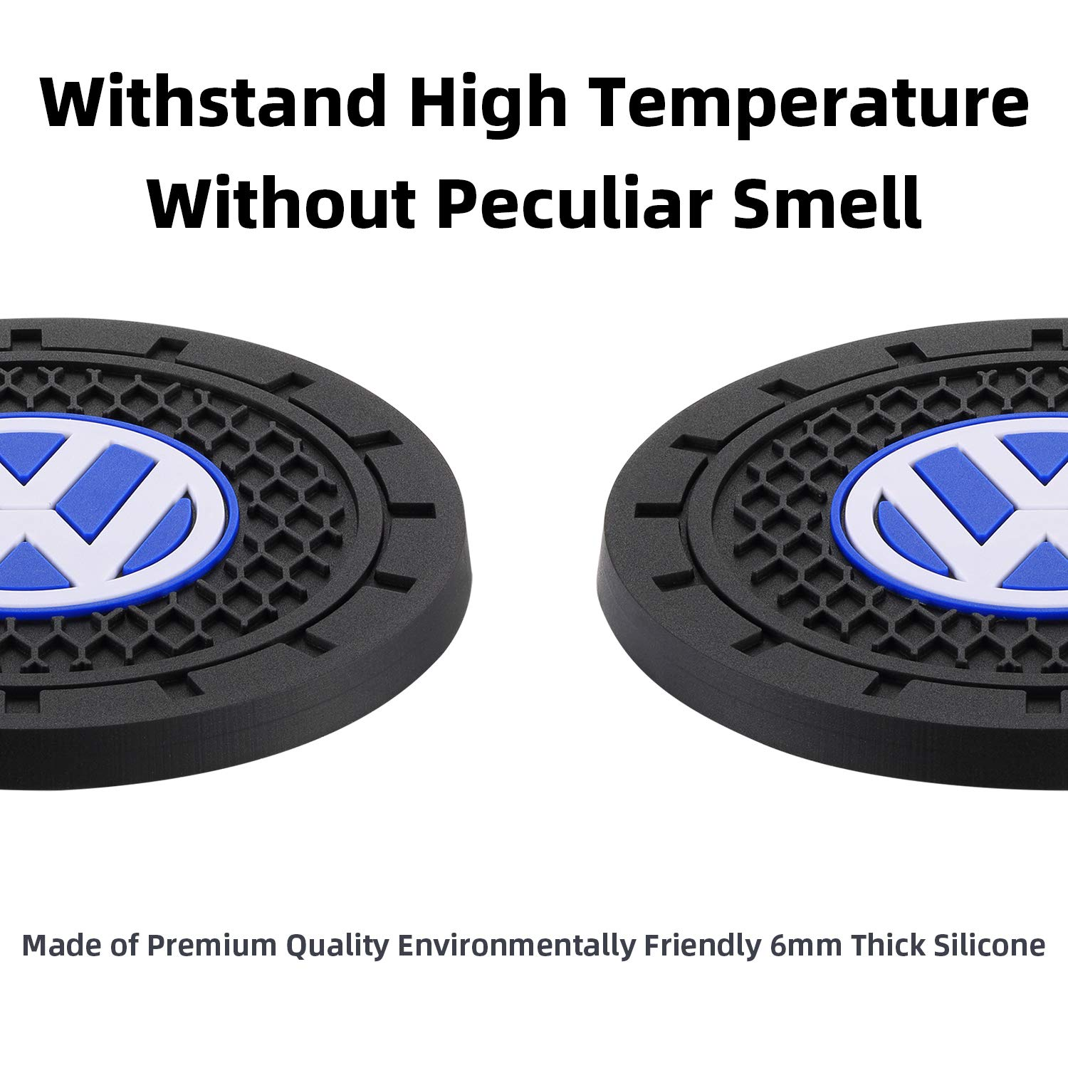 AOOOOP Car Interior Accessories for Acura Cup Holder Insert Coaster Silicone Anti Slip Cup Mat for Acura ILX TLX RLX RDX MDX NSX Set of 2, 2.75 Diameter