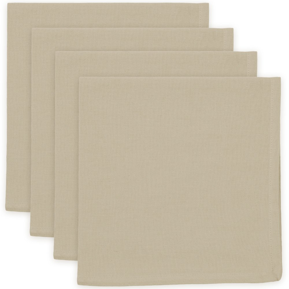 Now Designs Spectrum Cotton Napkins, Set of 4, Light Taupe by Now Designs