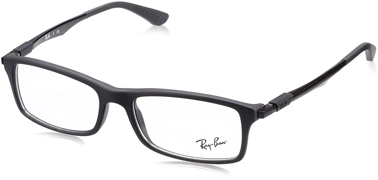 New Unisex Eyeglasses Ray-Ban RX7017 Active Lifestyle 5196  Matte Black B01LXEFHJI