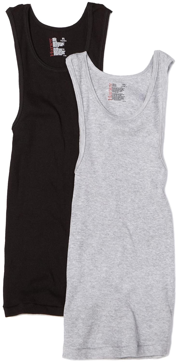 c5409ba08592db Amazon.com  Hanes Big Boys  Classic Dyed Tank (Pack of 2)  Tank Top  Undershirts  Clothing