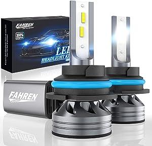 Fahren 9007/HB5 LED Headlight Bulbs, 60W 12000 Lumens Super Bright LED Headlights Conversion Kit 6500K Cool White IP68 Waterproof, Pack of 2