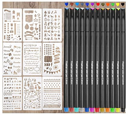 amazon com bullet journal supplies quality stencils and pens for