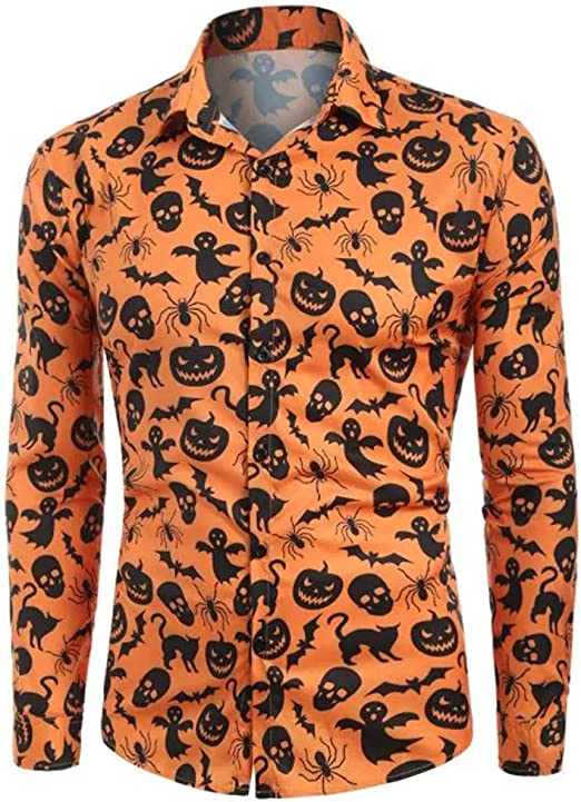 AugSep botón de la Manga de los Hombres Camisa de Dinosaurio Historieta Impresa del Ajuste Delgado Corto encabeza Blusa Floja de la Camiseta: Amazon.es: Hogar