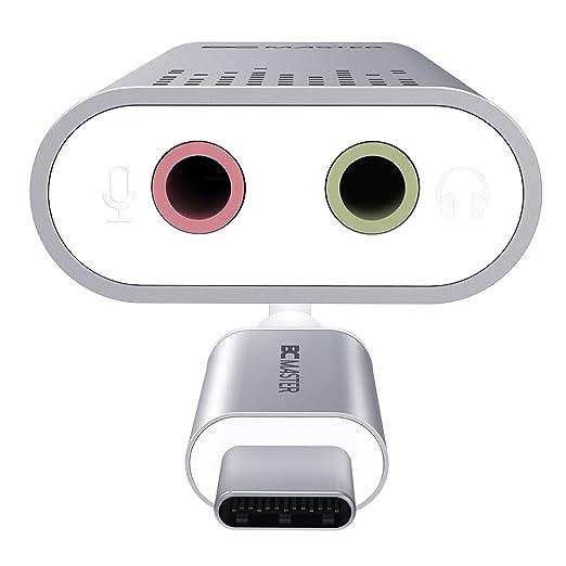 2 opinioni per BC Master USB C adattatore di audio audio stereo esterno con jack per cuffie e