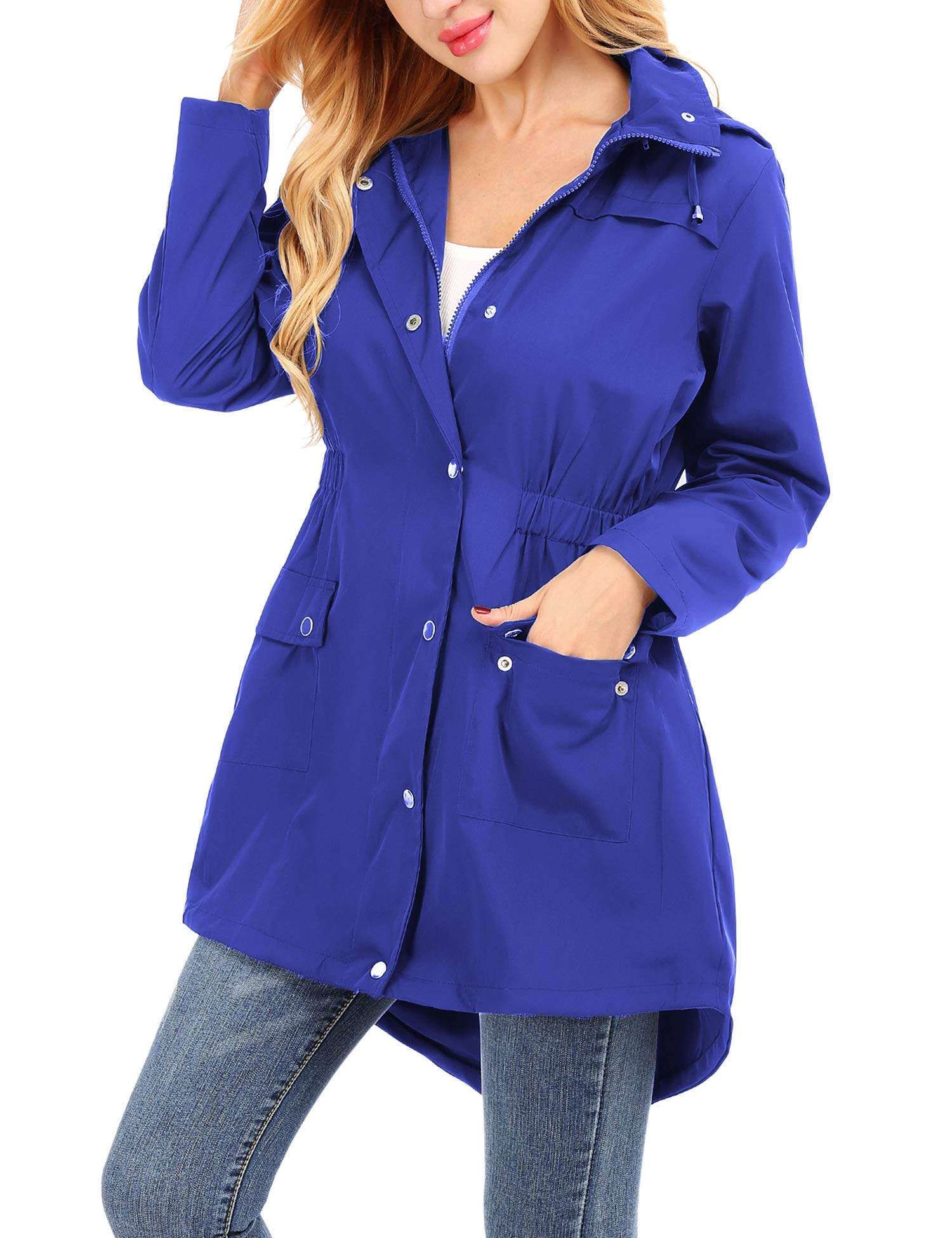 Uniboutique Raincoat Waterproof Outdoor Hooded Lightweight Rain Jacket Windbreaker by Uniboutique (Image #4)