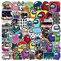 WayOuter Pegatinas Among Us 100 Uds, Calcomanías de Graffiti Impermeables de Anime para portátil, monopatín, Pegatina…