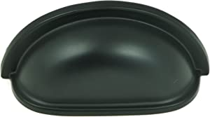 Stone Mill Hardware CP1499-MB Matte Black Cup Pull