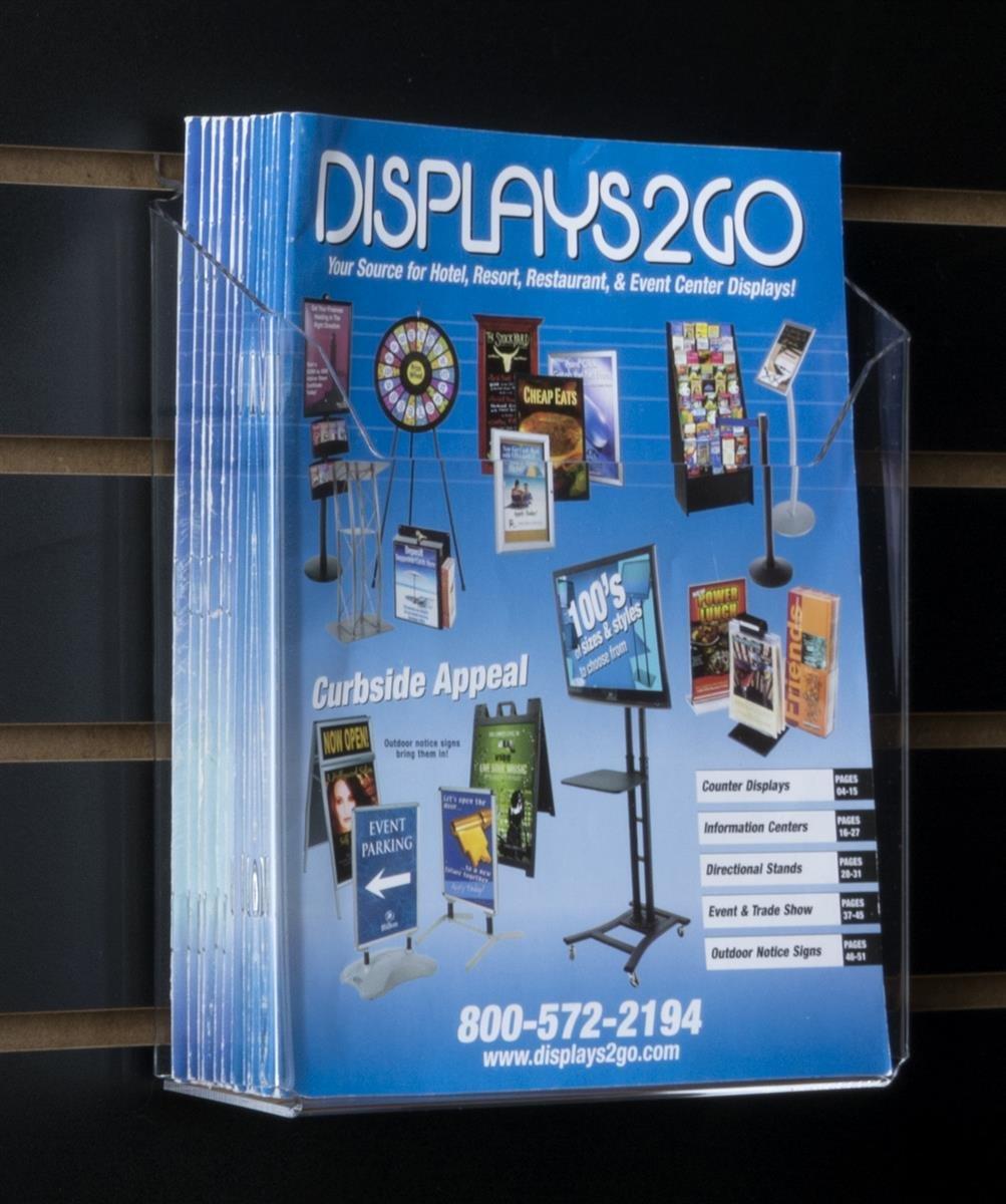 Slatwall revista bolsillos para 8,5 x 11 catálogos, único bolsillo acrílico titulares de literatura – acrílico bolsillo transparente b22dc9