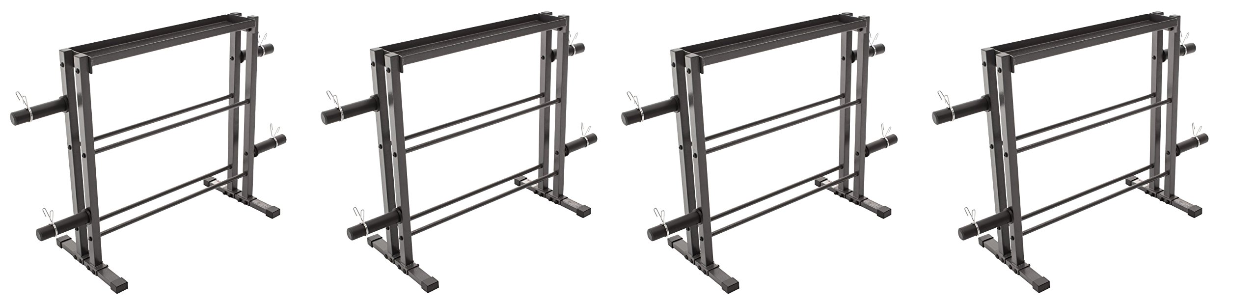 Marcy Combo Weights Storage Rack for Dumbbells, Kettlebells, and Weight Plates DBR-0117 (Pack of 4) by Marcy