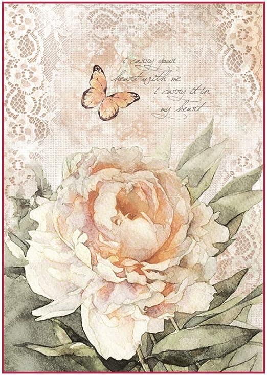 Roses And Butterflies Decoupage 1 x A4 Sheet