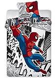 Parure de lit Spiderman - Housse de couette réversible 100% coton