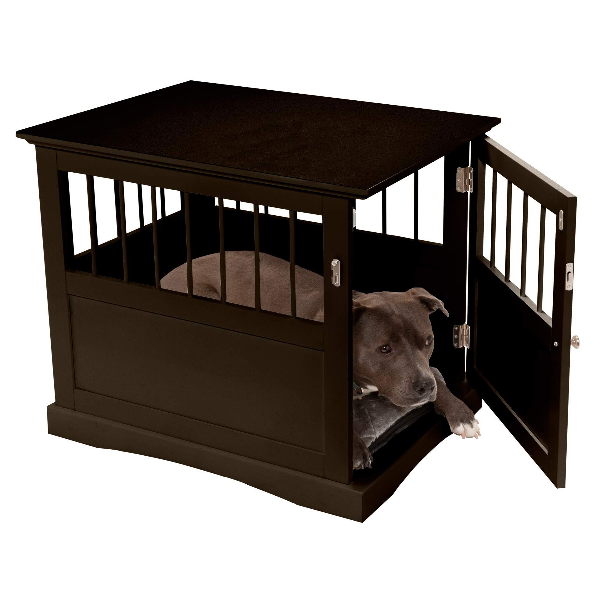 Furhaven Pet – Cat Litter Floor Mat Protector, Litter Box Storage Cabinet, & Secure Living Room Dog Crate End Table for…