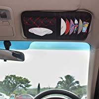 MINC Car Visor CD/DVD Storage Organizer Bag and Tissue Holder (Red)