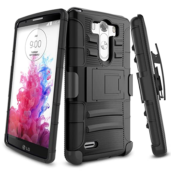 new concept 39c9a fa157 LG G3 Case,TILL [Knight Armor] Heavy Duty Full-body Rugged Holster  Resilient Armor Case [Belt Swivel Clip][Kickstand] Combo Cover Shell For LG  G3 ...