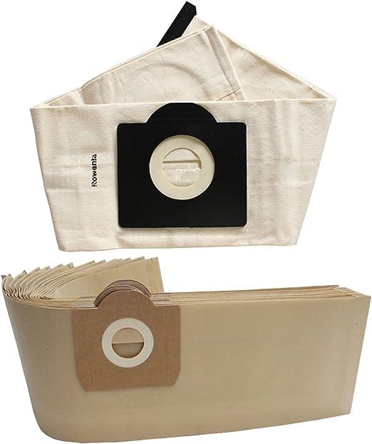 reyee 4 * Papel bolsas para aspiradora + 1 * Bolsa de polvo lavable Universal bolsas para aspiradoras Rowenta zr814 Karcher hr6675 seteco Rowenta Bully Bosch: Amazon.es: Hogar