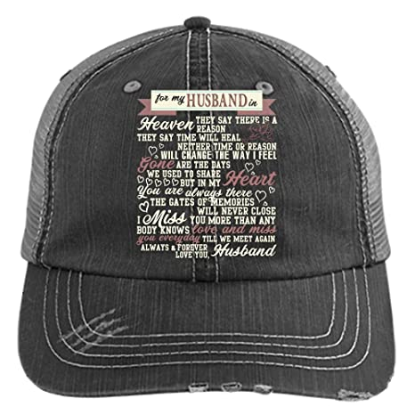 For My Husband In Heaven Hat 5b92e2d9508