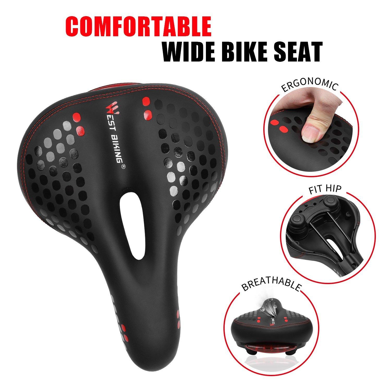 0b32cc95e6e West Biking Comfortable Gel Bike Seat