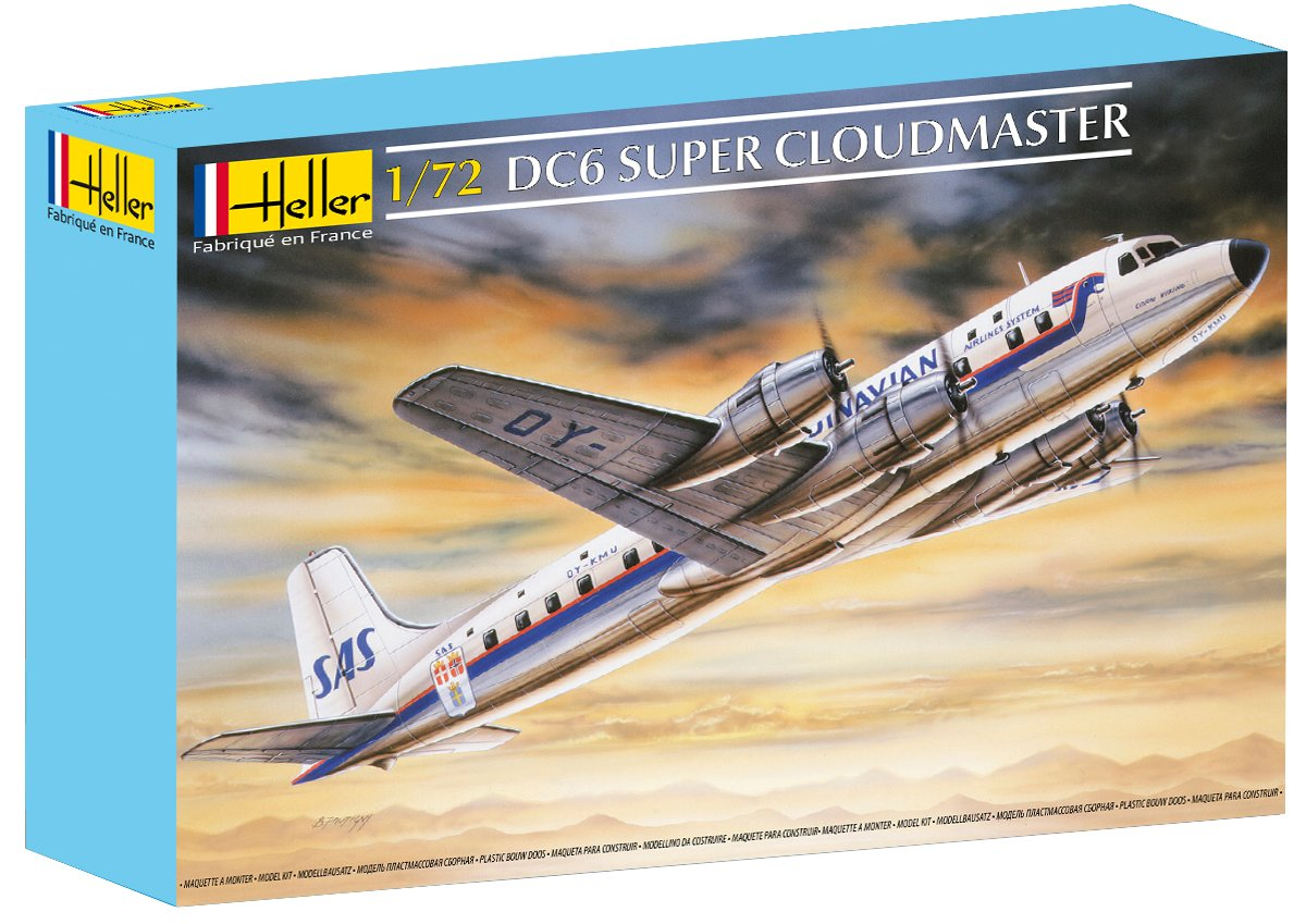 Heller DC-6 Cloudmaster Airplane Model Building Kit