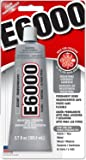 Eclectic Products 230012 3.7 oz Amazing E-6000 Craft Adhesive Uncarded, Clear 8 Pack