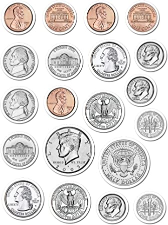 5282 Bills Shape Stickers Carson Dellosa Money U.S Carson-Dellosa