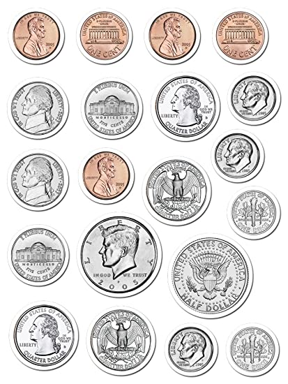 photograph regarding Coins Printable named : Artistic Schooling Force Cash Stickers (4128
