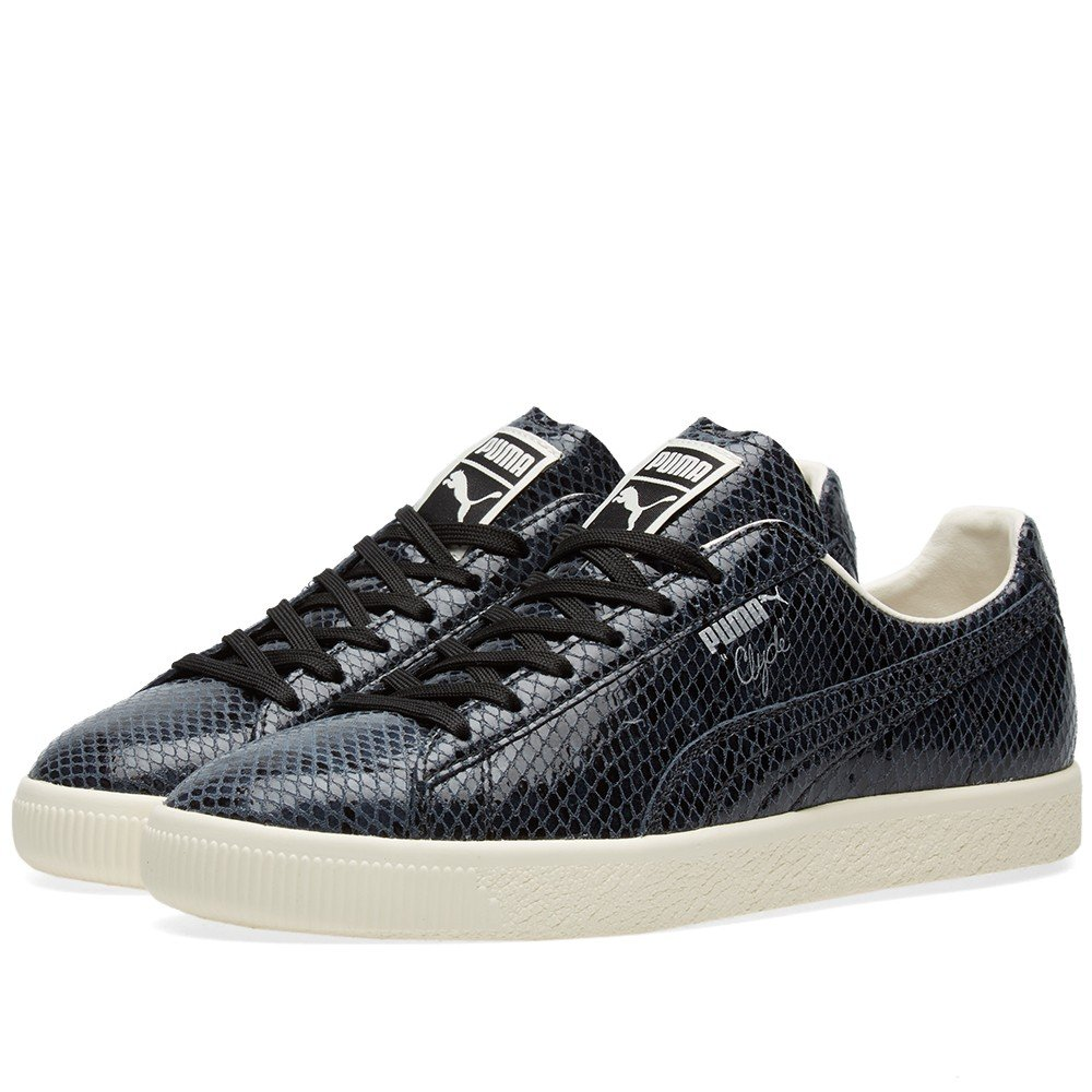 differently d739e 9b364 PUMA Men's Clyde Snake Leather Fashion Sneaker