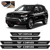 Soleira Platinum Jeep Compass 2017 a 2020 4 Peças Preto