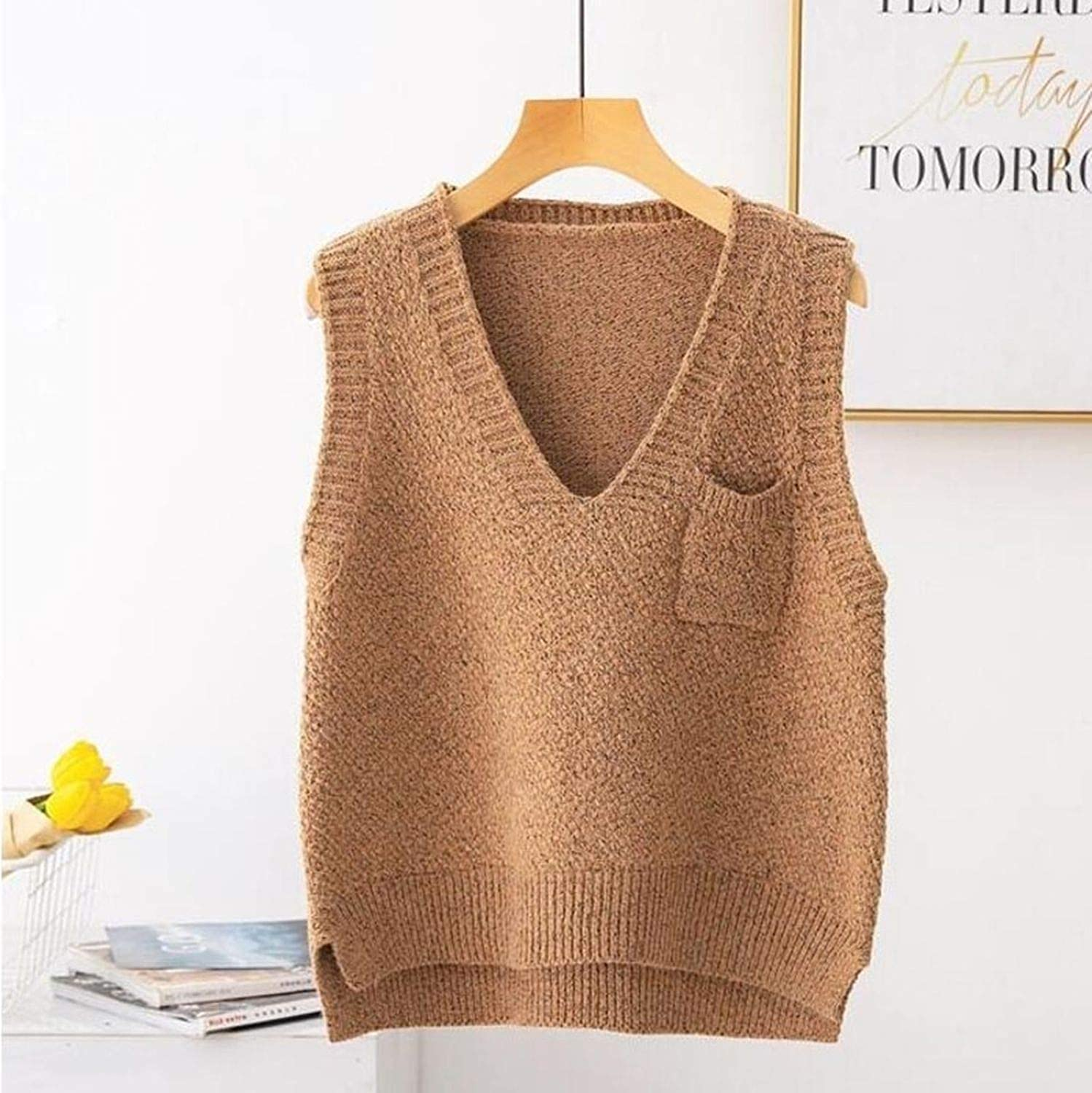 mmusty Knitted Vest Women Sleeveless Sweater Vest Ladies