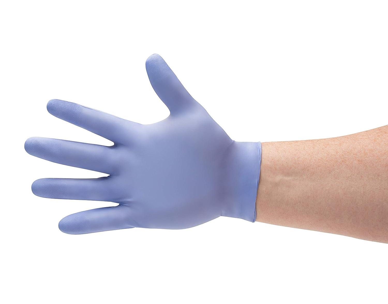 粉末ゼロ使い捨てブルーニトリル8 Mil医療試験手袋、2 x -大、350手袋をPSBM B0794ZGD9M
