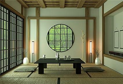 Amazon.com : Laeacco 5x3ft Japanese Style Room Interior ...