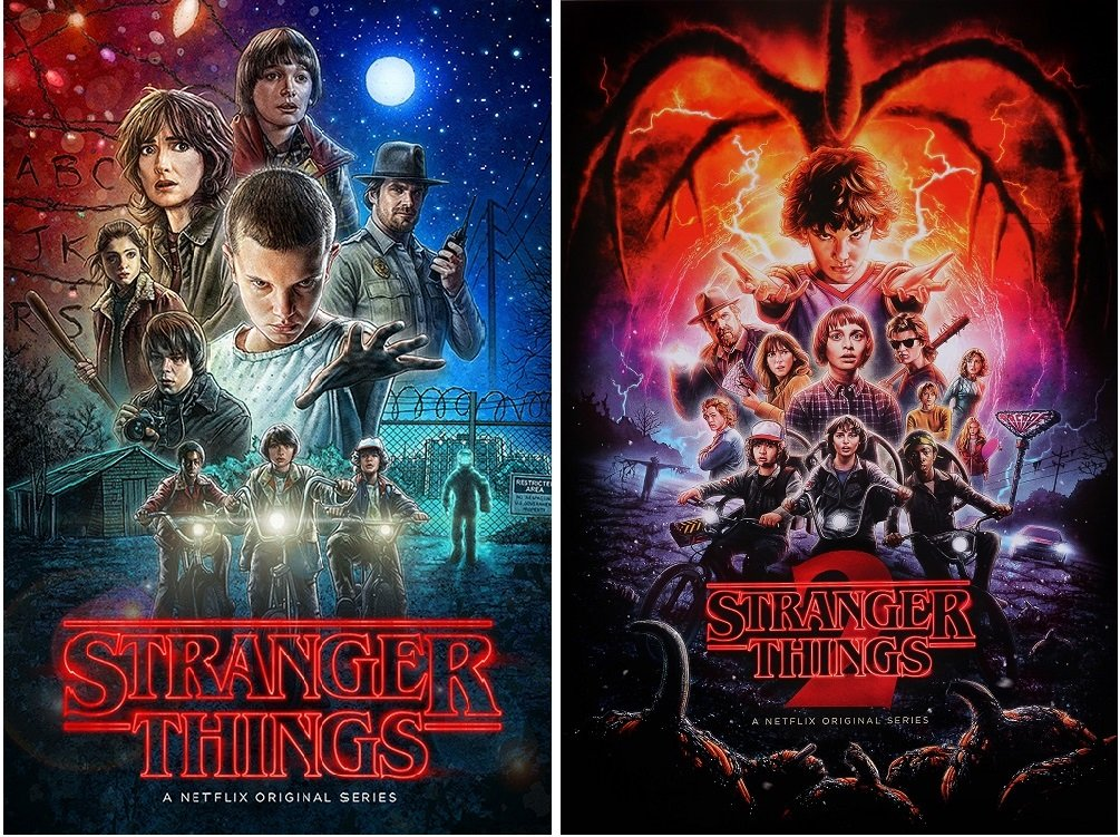 Stranger Things Posters Season 1 and 2 Posters Set (2 Posters), Size Each 24x36