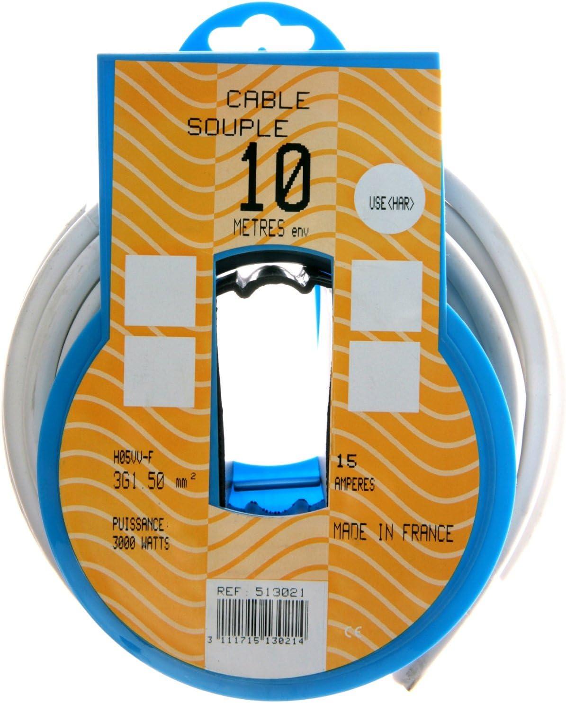 Lumiplast PRP522711 Couronne de c/âble 5 m ho3vhh 2 x 0,75 mm2 Blanc