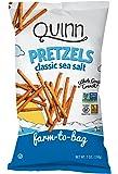Quinn Snacks Non-GMO and Gluten Free Pretzels, Classic Sea Salt, 7 oz, 3 Count