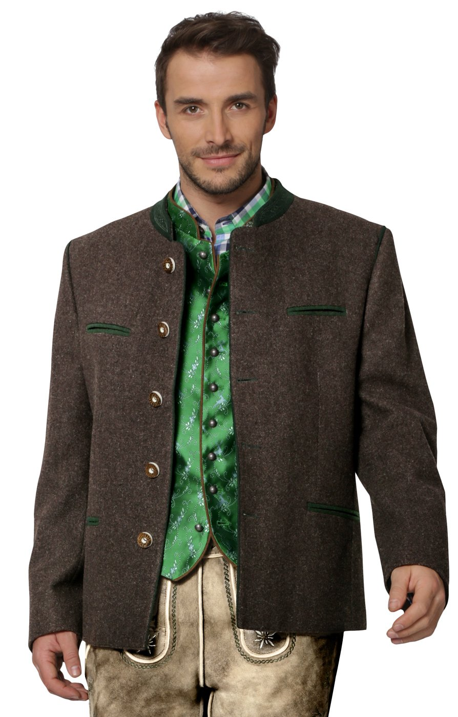 Stockerpoint Men's Traditional Jacket Stachus 42 Brown