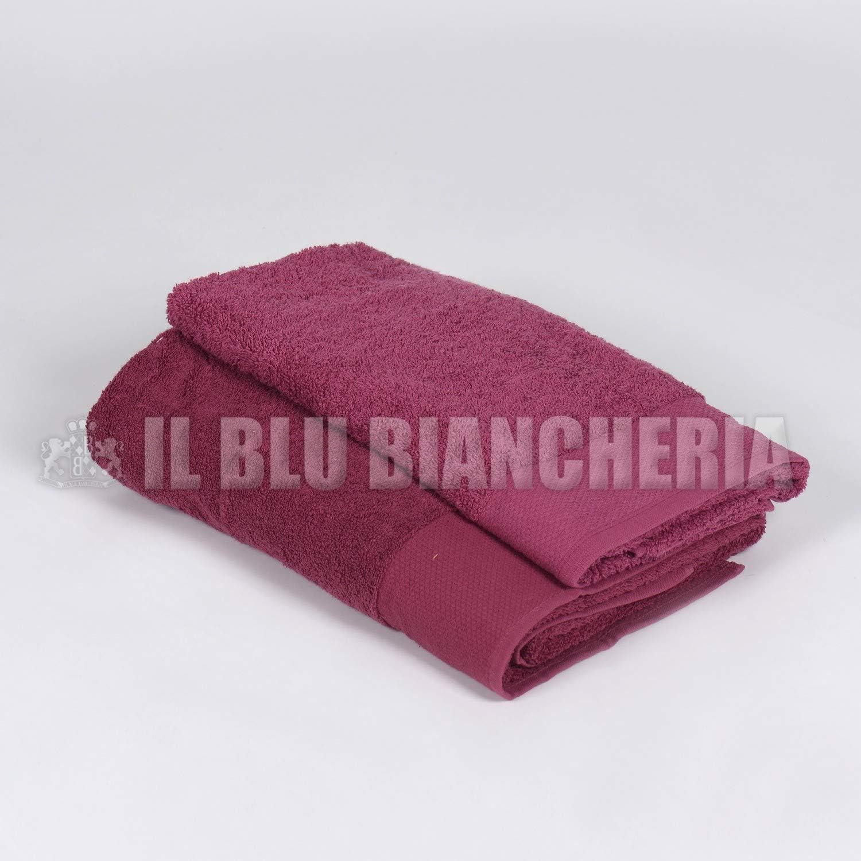 Happidea Toalla Color fantasía, algodón, Negro Cereza: Amazon.es ...