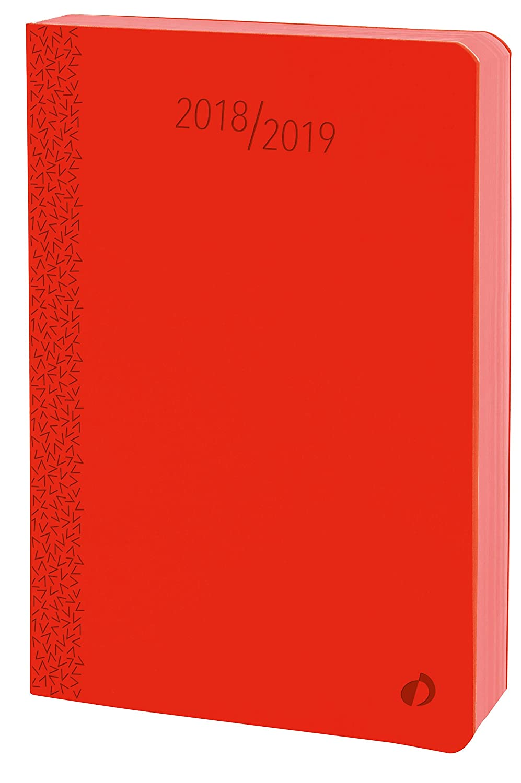 Quo Vadis Velvet EUROTEXTAGENDA Agenda scolaire Journalier 12x17cm Bleu Année 2018-2019