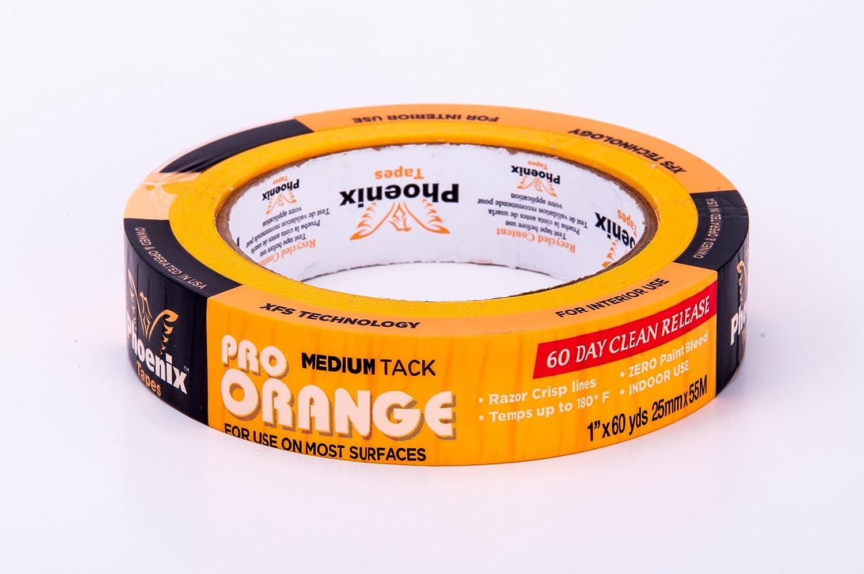 1-Inch by 60-Yard Phoenix Tapes 30632 Pro Orange Tape