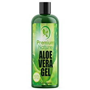 Aloe Vera Gel for Face Body & Hair - 354 ml Pure & Natural Soothes Eczema After Sun Skin Care - Bug or Insects Bites Razor Bumps and Acne Premium Nature