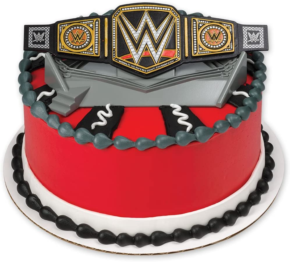 Admirable Decopac Wwe Championship Ring Decoset Cake Topper Amazon Co Uk Personalised Birthday Cards Paralily Jamesorg