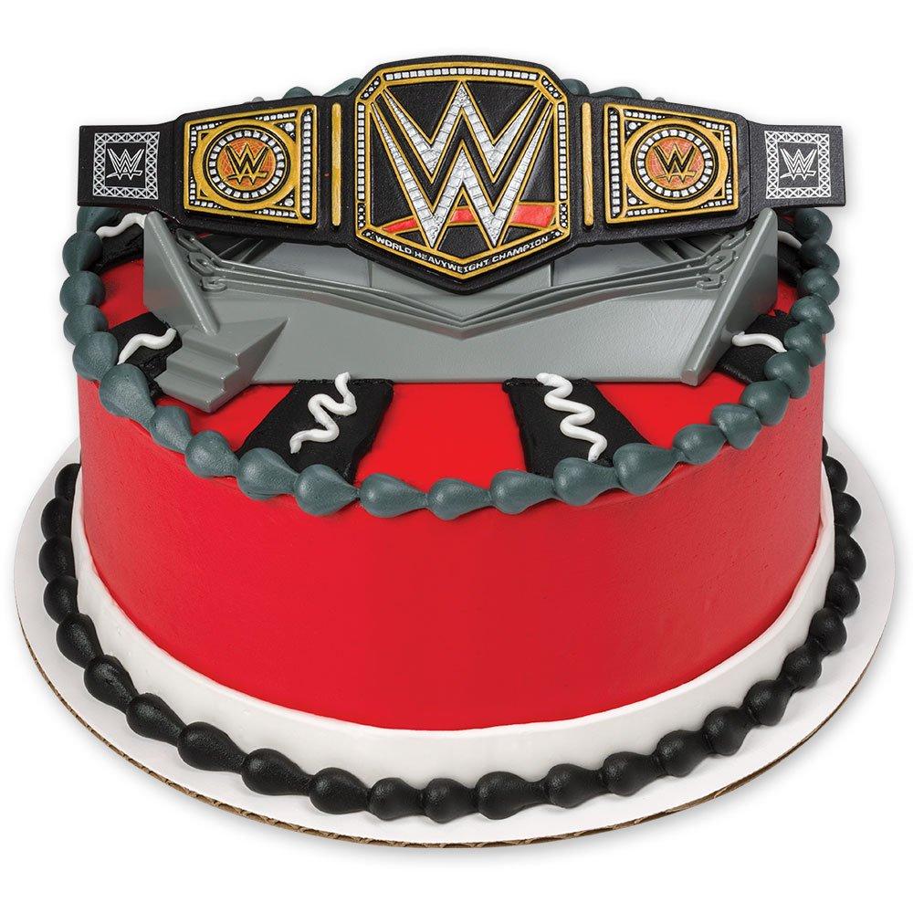 Amazon.com: DecoPac WWE Championship Ring DecoSet Cake Topper: Toys ...