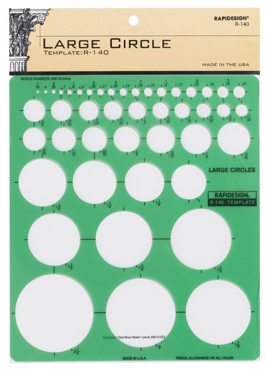 Rapidesign Large Circles Template, 1 Each (R140)