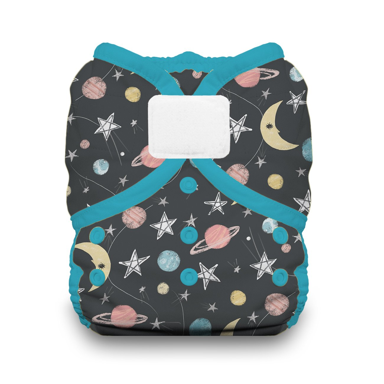 Thirsties Duo Wrap Cloth Diaper Cover, Hook and Loop Closure, Stargazer Size Two (18-40 lbs) by Thirsties