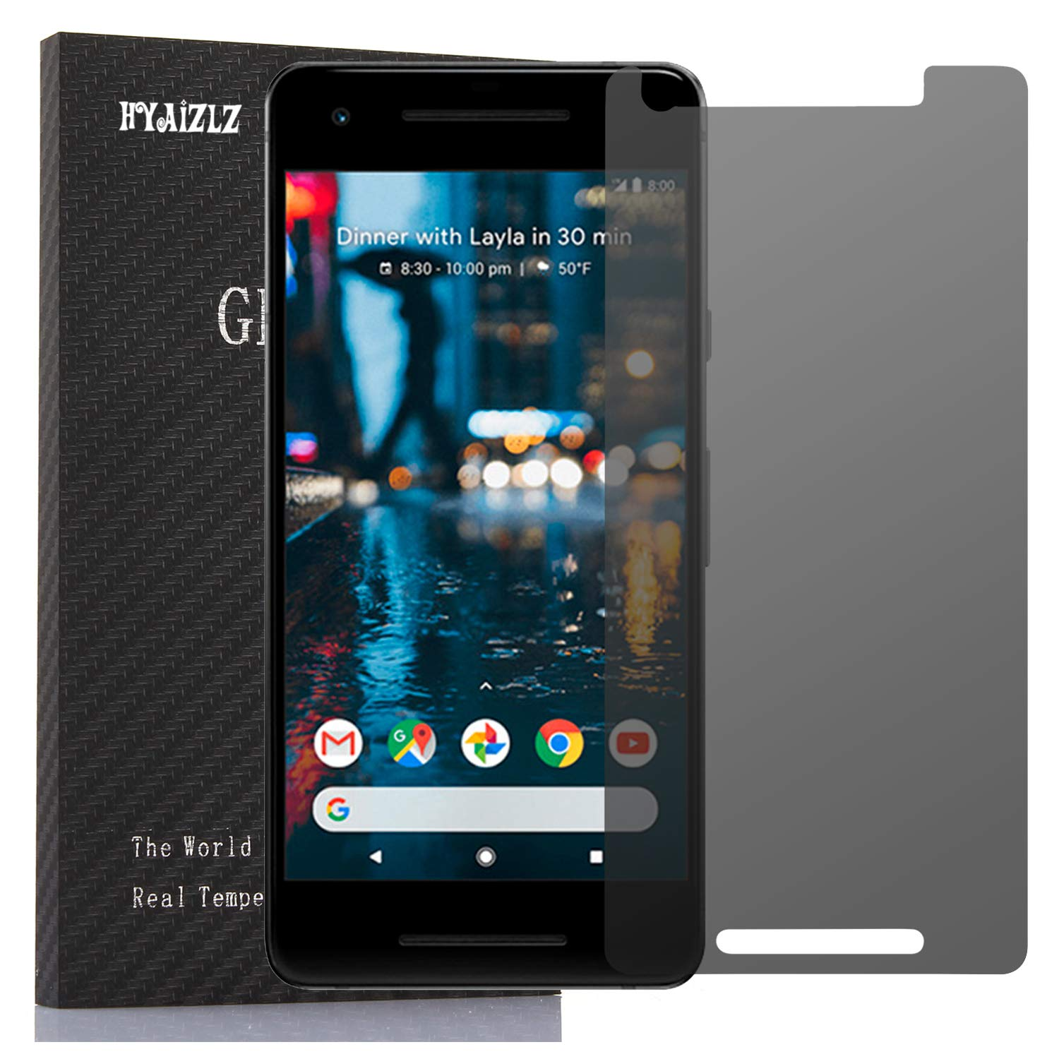 Google Pixel 2 Privacy Screen protector,HYAIZLZ(TM)2pcs Anti-Spy Screen  Protector Shield For Google Pixel 2 5 0 inch
