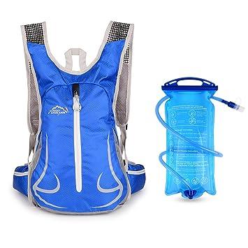 15L Bicicleta Mochila de Hombro, con 2L bolsa de agua para camping senderismo ciclismo correr acampar o caminar,Respirable Impermeable Ultraligero