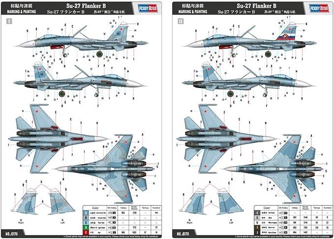 Hobbyboss 81711 1//48 Russian Su-27 Flanker B